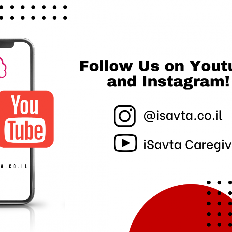 Introducing, iSavta Youtube and Instagram!