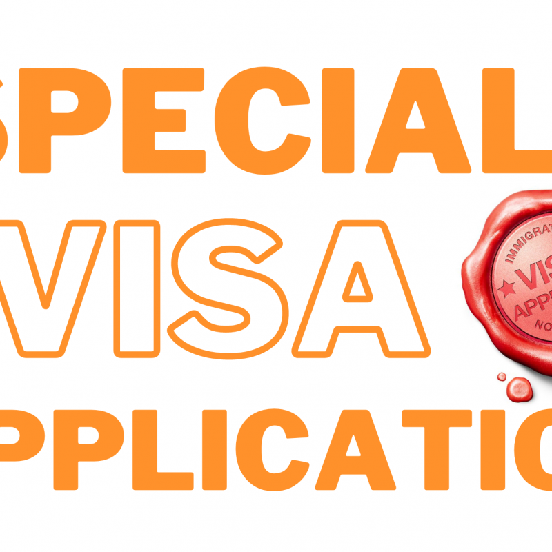 INFORMATION ABOUT NEW LAW REGARDING SPECIAL VISA APPLICATIONS