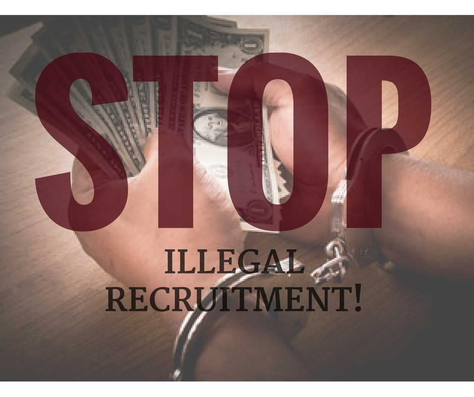 Illegal Recruitment: Identify Them. Avoid Them.