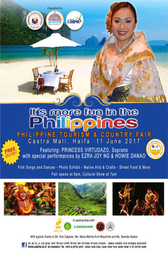 Tourism & Country Fair to showcase the best of the Philippines in Haifa's Castra Mall