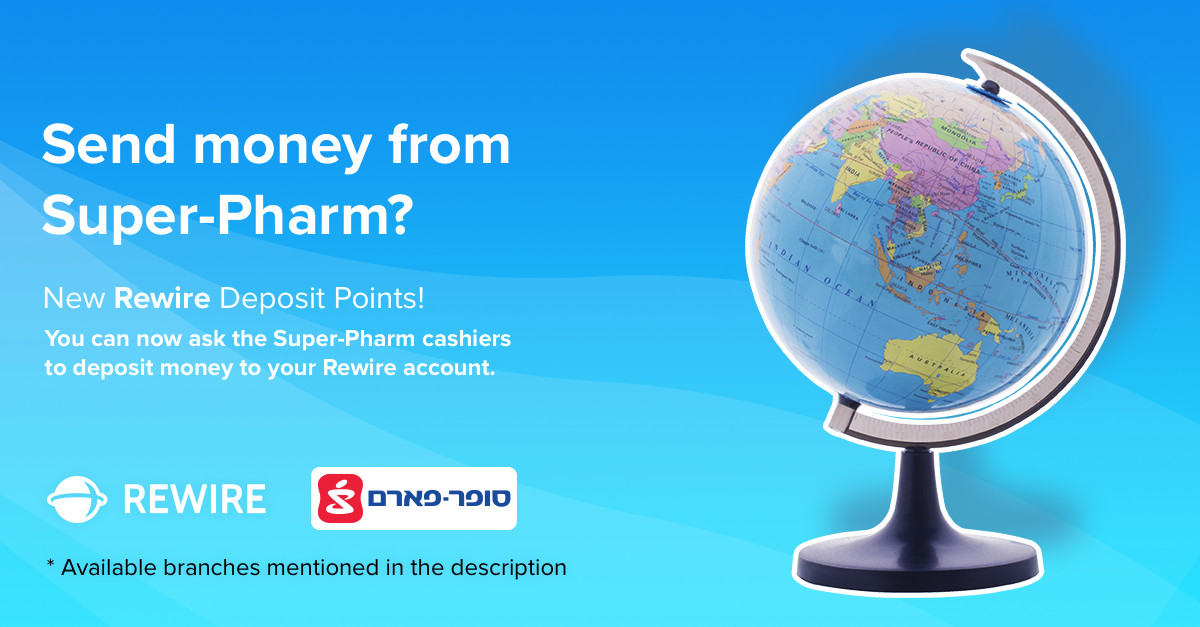 Send Money from Super-Pharm: The New Rewire Deposit Points!