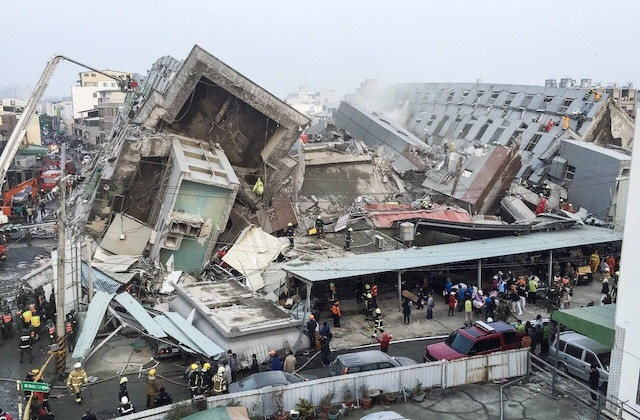 7 Dead as 6.4 Earthquake Hit Taiwan