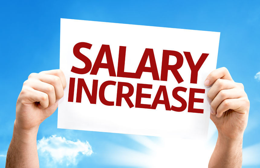Salary Increase Starting January 1, 2017