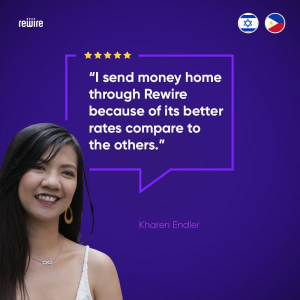 Send money to the Philippines/India/Thailand/Sri Lanka and more through Rewire!